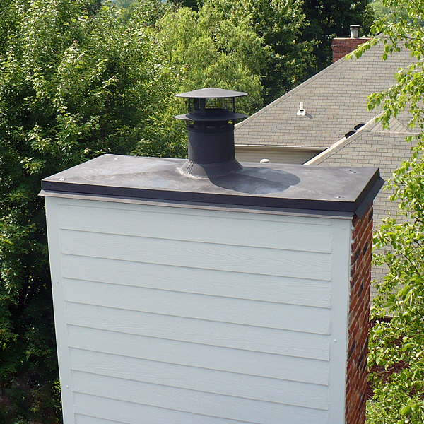Brick Chimney Caps For Chimneys : What about that chimney penetrates through your roof